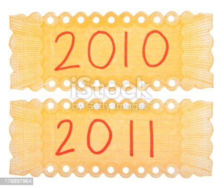 istock 2010 and 2011 Handwriten Labels 176897964