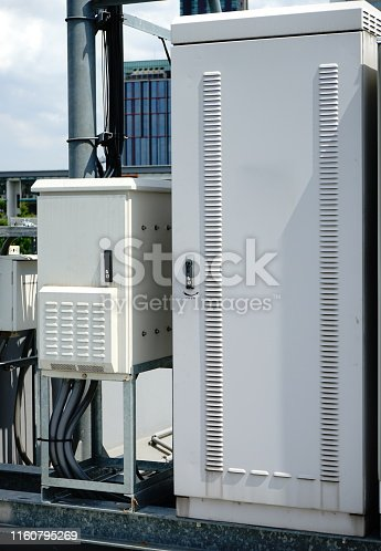 istock 4G and 5G Antenna system outdoor system control box 1160795269