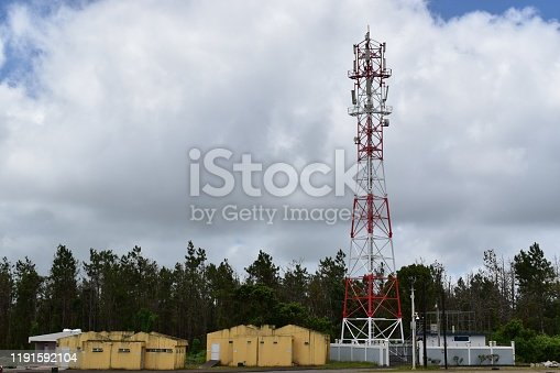 1145453438istockphoto 4G and 5G cell site with a logistic station. Telecommunication tower with antennas. 1191592104