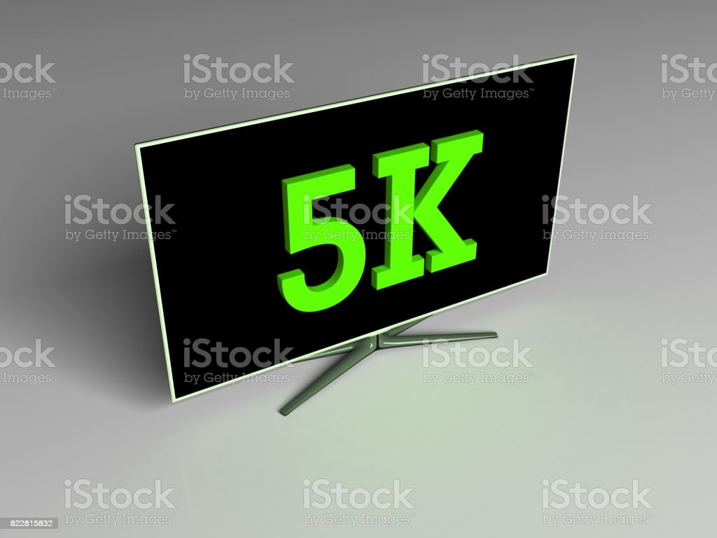 4K and 5K HD - Concept stock photo