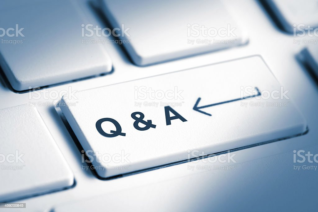Q and A royalty-free stock photo