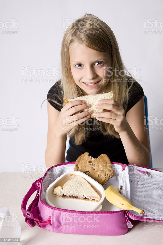 PBJ and a Smile royalty-free stock photo