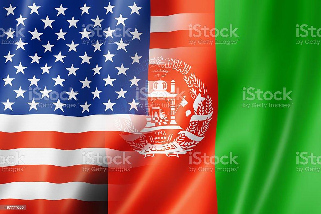 USA and Afghanistan flag stock photo