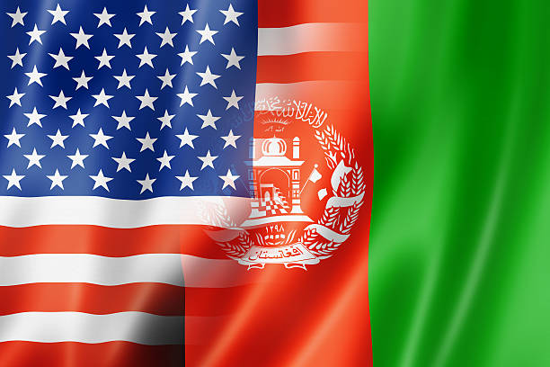 EUA, Bandeira do Afeganistão - foto de acervo