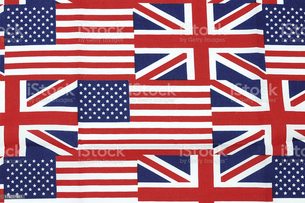 UK and american flag royalty-free stock photo