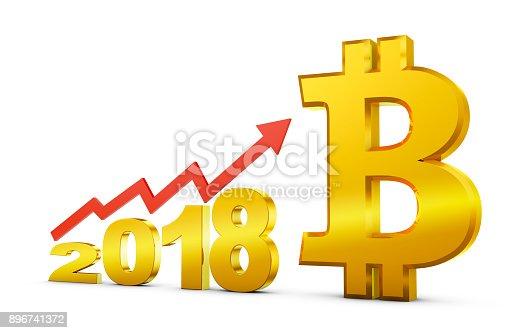 istock 2018 and  bitcoin 896741372