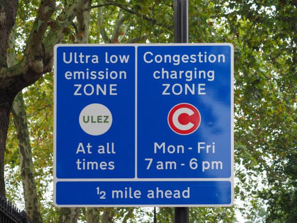 ULEZ (Ultra low emission zone) und C (Congestion charging zone) – Foto