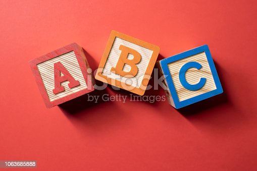 istock A, B and C wooden blocks 1063685888