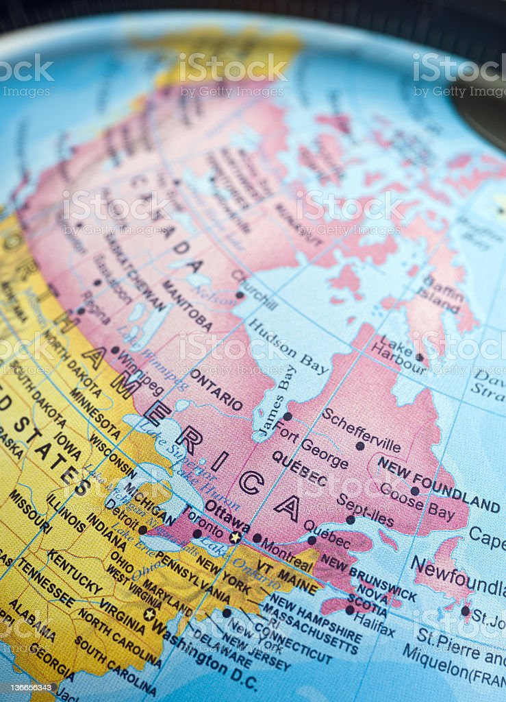 Image of: Us And Canada East Coast Map Stock Photo Download Image Now Istock