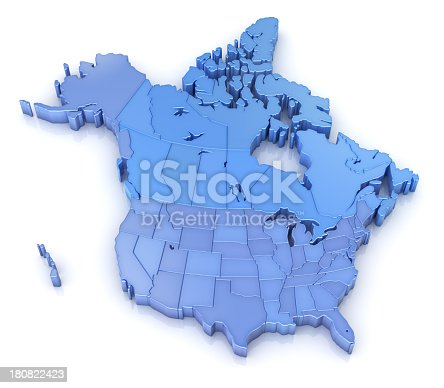 istock USA and Canada map with states 180822423
