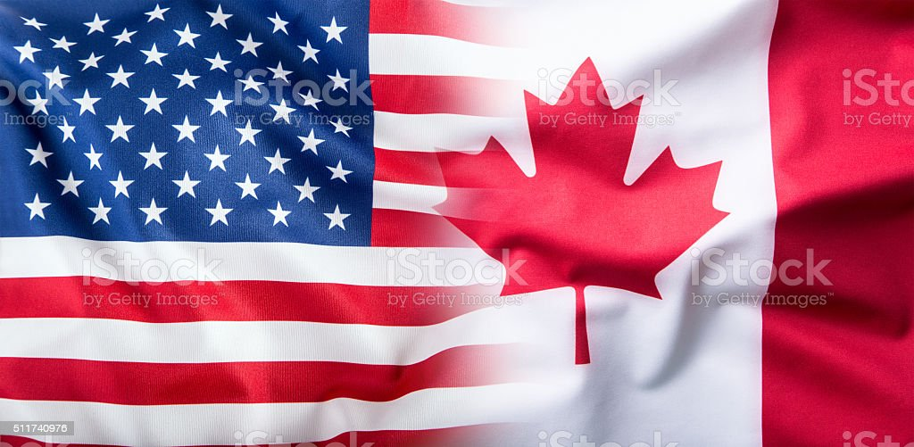 Usa and canada usa flag and canada flag stock photo more pictures usa and canada usa flag and canada flag royalty free stock photo publicscrutiny Image collections