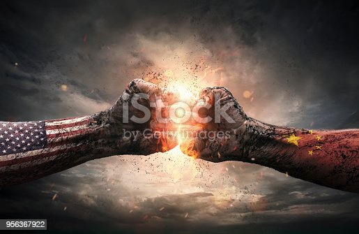istock USA and China conflict concept 956367922