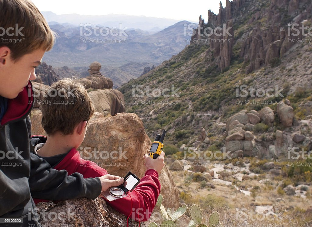 GPS and compass royalty-free stock photo