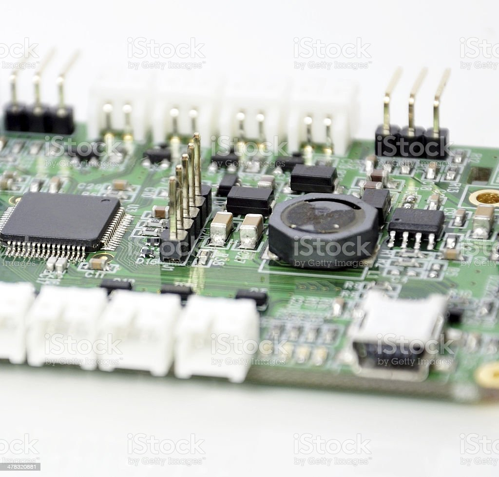 PCB and components royalty-free stock photo