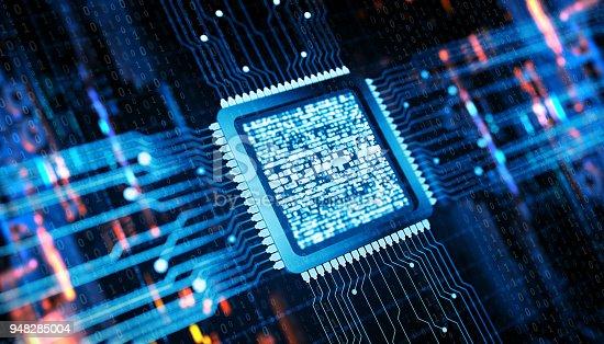 Central Computer Processor digital concept