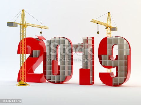 New Year 2019 Construction, red version