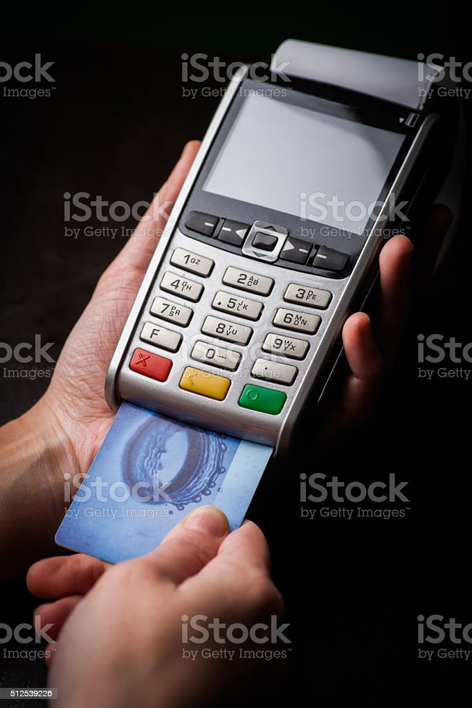 POS and credit cards stock photo