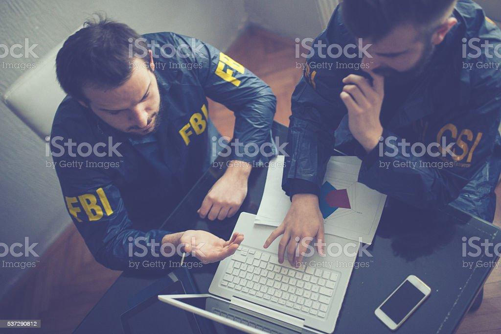 FBI and CSI agents stock photo