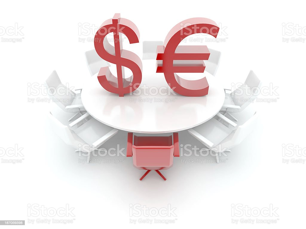 EURO and DOLLAR table royalty-free stock photo