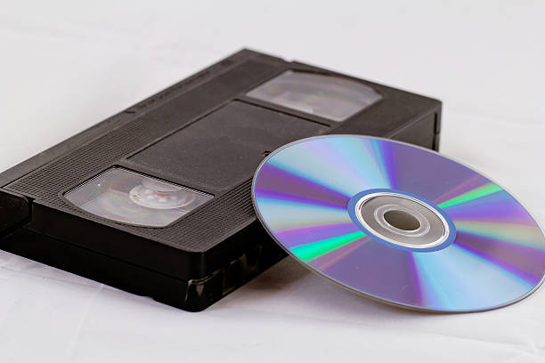 VHS and DVD stock photo