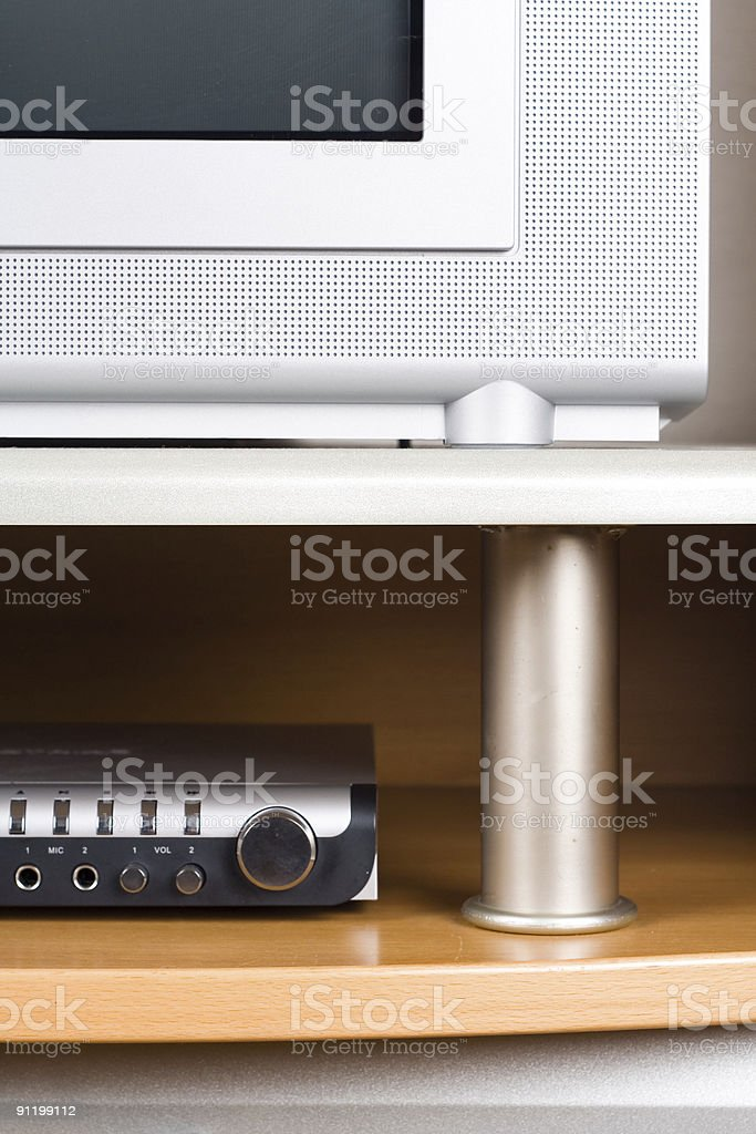 TV and DVD player royalty-free stock photo