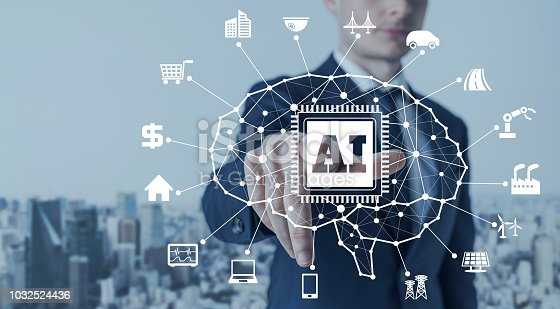 852015986 istock photo AI (Artificial Intelligence) and electronics concept. 1032524436