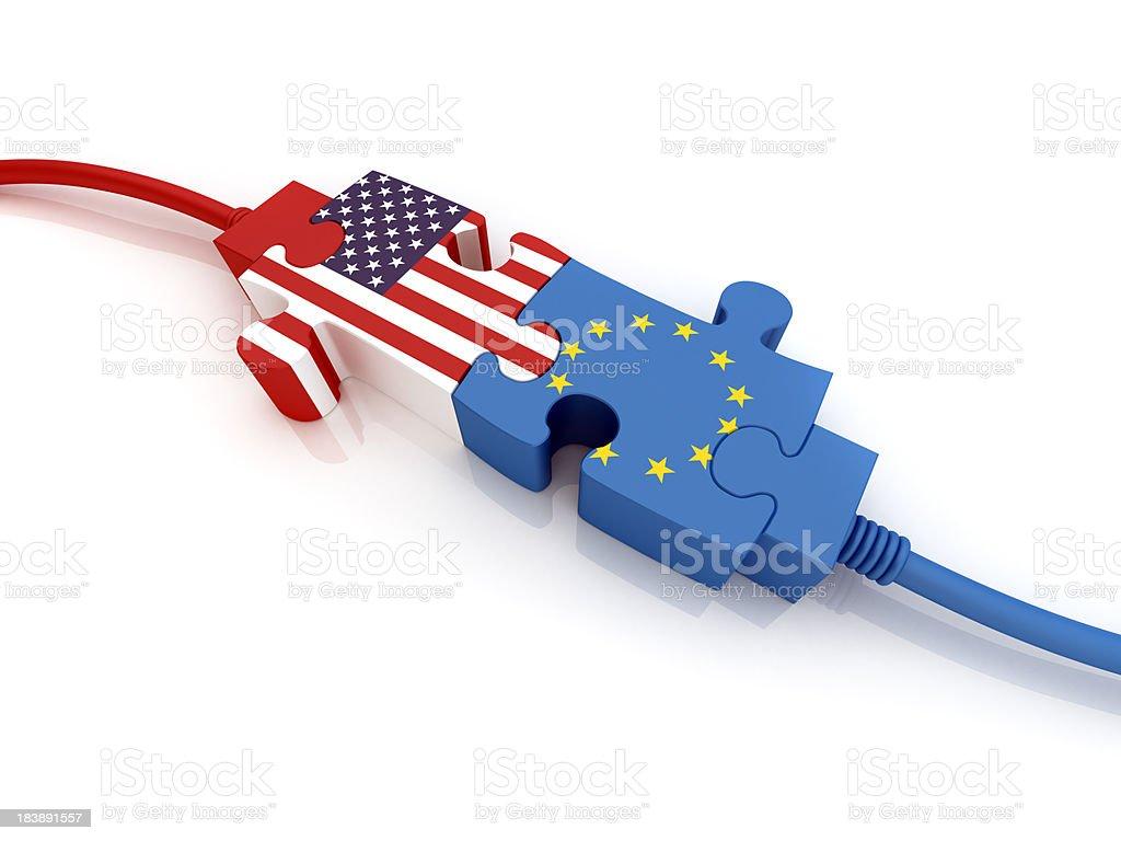 USA and European Union royalty-free stock photo
