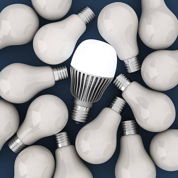 led lampen und filament - glühbirne e27 stock-fotos und bilder