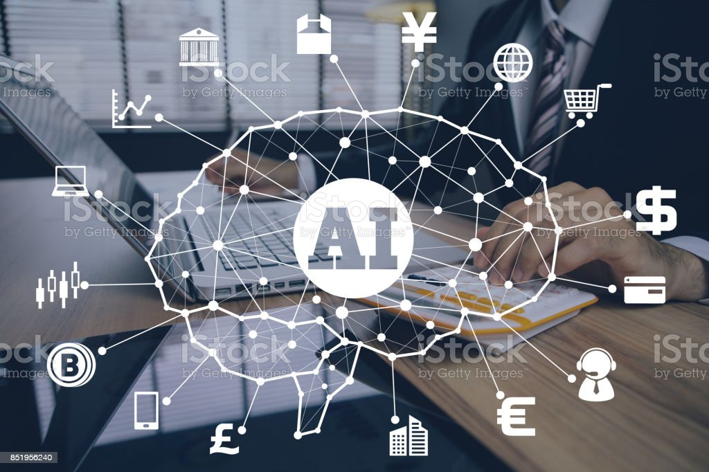 AI(Artificial Intelligence) and Financial Technology. stock photo