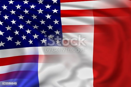 800485914istockphoto USA and France flag 525586649