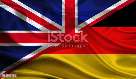 istock UK and German flag 593302782