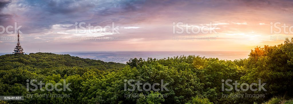 TV and GSM Transmitter stock photo