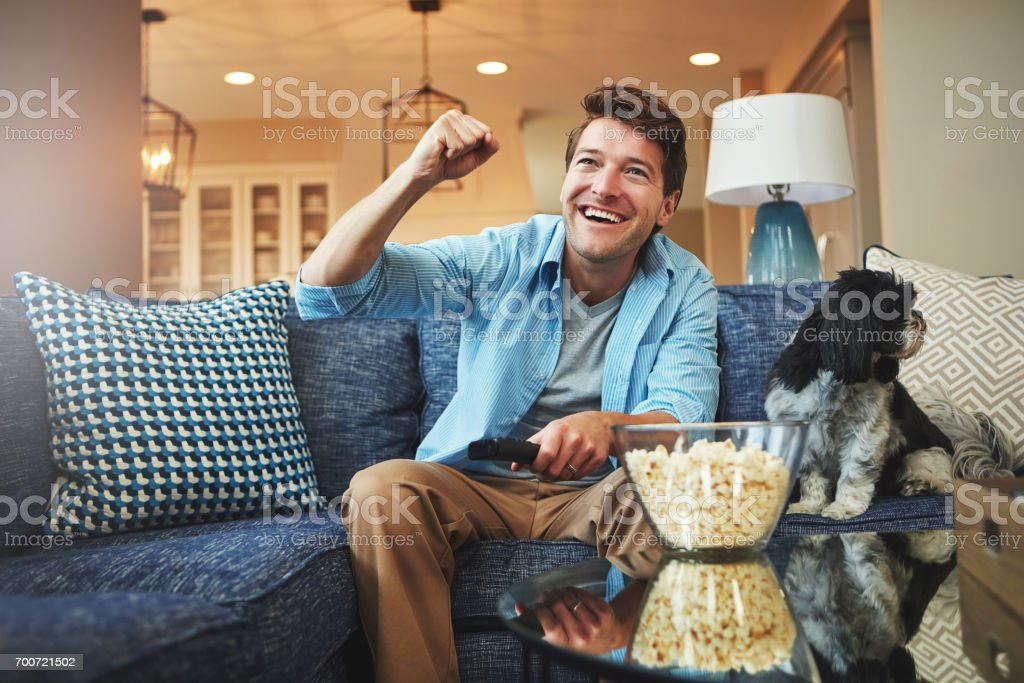 And he scores! stock photo