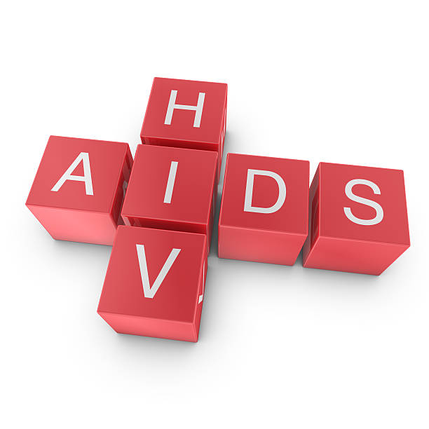 AIDS and HIV crossword stock photo