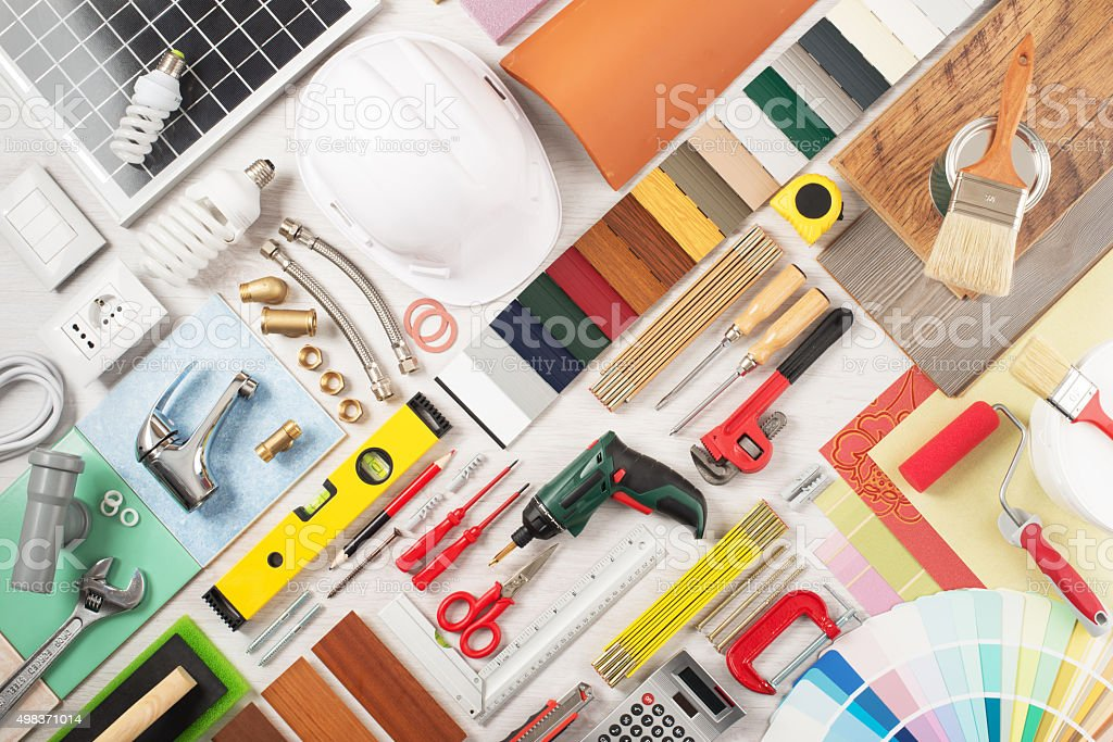 DIY and home renovation stock photo