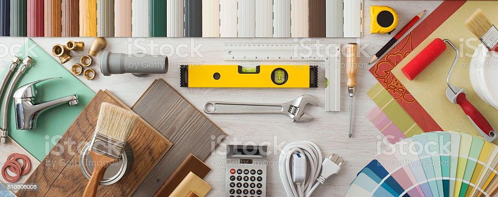 DIY and home renovation stock photo