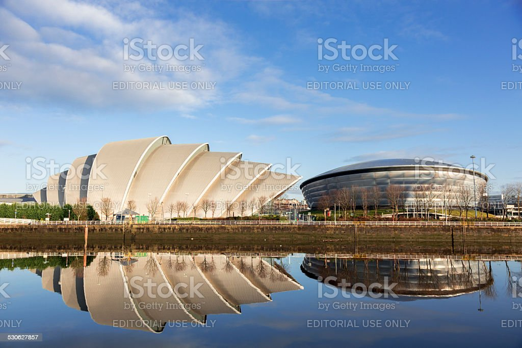 SECC And Hydro Buildings On The River Clyde, Glasgow stock photo