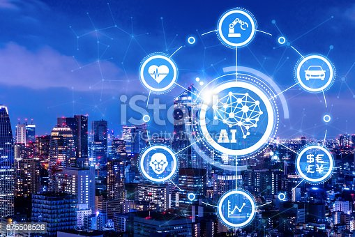 istock AI(Artificial Intelligence) and Internet of Things. Conceptual mixed media. 875508526