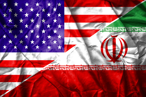istock USA and Iran flag 472408094