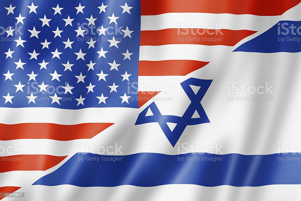 USA and Israel flag royalty-free stock photo
