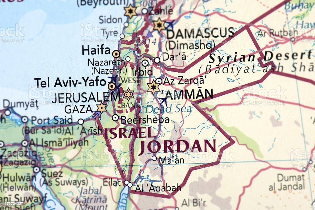 ISRAEL and JORDAN royalty-free stock photo
