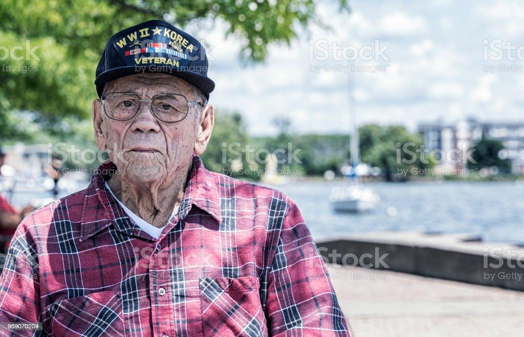 Dem zweiten Weltkrieg und Koreakrieg militärischen Veteran in Canandaigua Lake – Foto