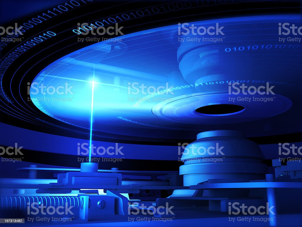 CD and Laser royalty-free stock photo