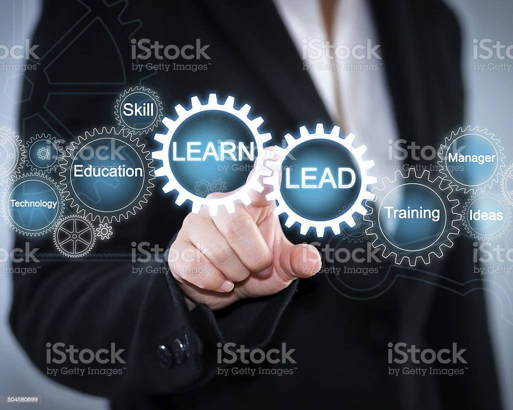 LEARN and LEAD stock photo