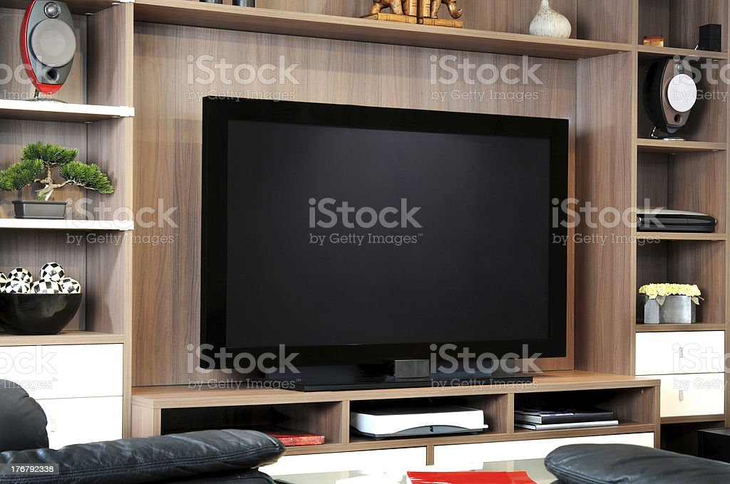 TV and lounge stock photo