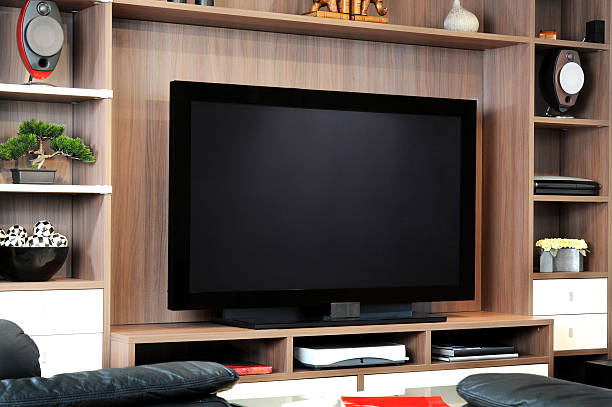 tv and lounge - flat screen stock photos and pictures