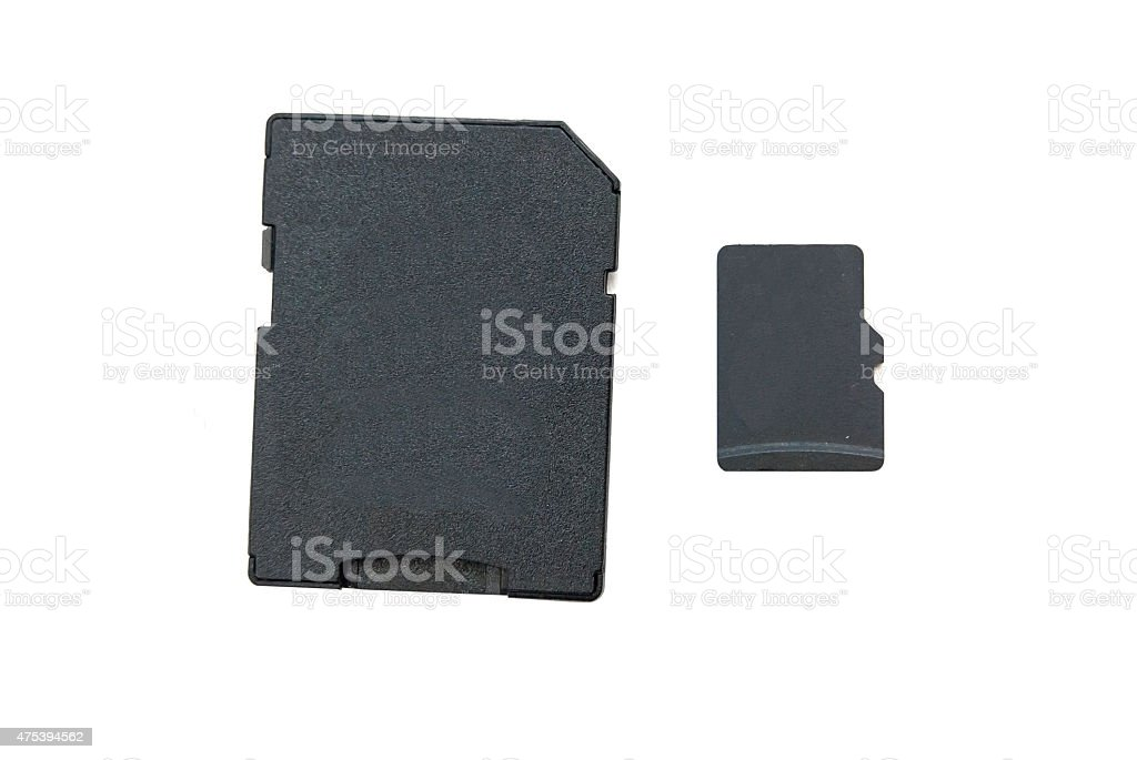 SD and micro SD cards stock photo