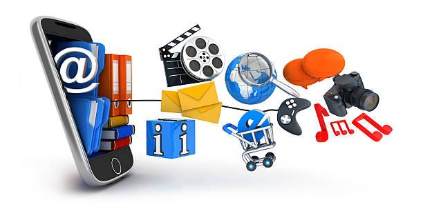 pda und multimedia - nachrichten video stock-fotos und bilder