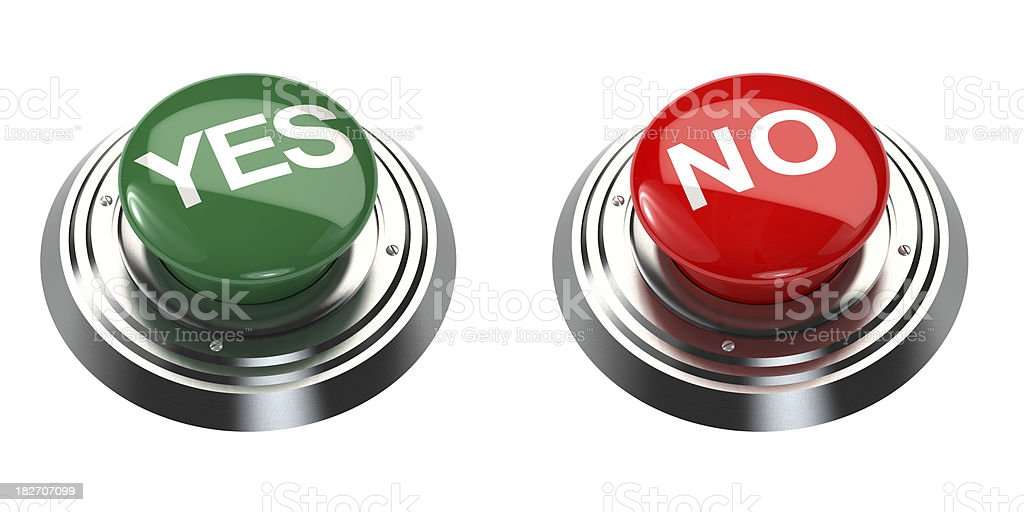 YES and NO Buttons royalty-free stock photo