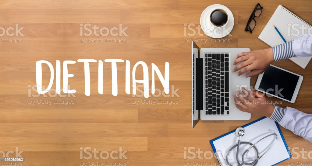 DIETITIAN and Nutritionist doctor or dietitian and dietitian professional unhealthy stock photo